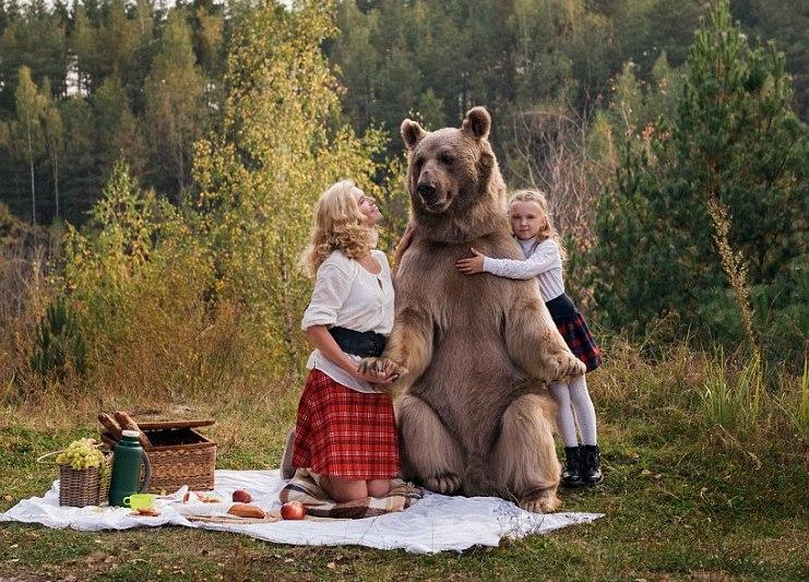 фото с медведем степаном